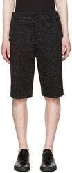 Helmut Lang Black And White Tailored Shorts