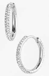 Nadri Small Pave Hoop Earrings Nordstrom Exclusive Silver Clear