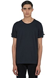 J.W.Anderson Strapped Round Neck T Shirt Black