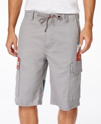 Lrg Men's Paddle Team Graphic Print Cargo Shorts Ash Heather