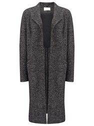 Jacques Vert Edge To Edge Textured Coat Mid Grey