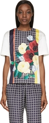 Mother Of Pearl White And Red Poppy Print Short Sleeve Shift Top