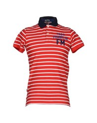 Franklin And Marshall Topwear Polo Shirts Men Red