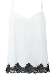 Theory Scalloped Hem Blouse White