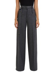 Calvin Klein Huranal Wide Leg Wool Pants Grey