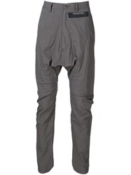 Julius Lightweight Drop Crotch Pants Black
