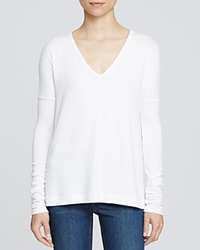 Rag And Bone Rag And Bone Jean The V Neck White Tee Bright White