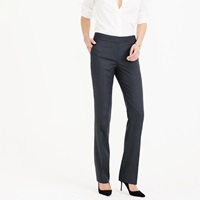 J.Crew Petite Campbell Trouser In Pinstripe Super 120S Wool