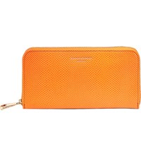 Aspinal Of London Continental Clutch Lizard Embossed Leather Wallet Orange
