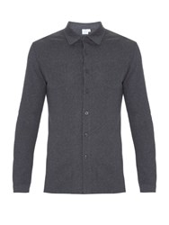 Sunspel Riviera Mesh Cotton Shirt Grey