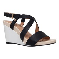 Miss Kg Pascal Wedge Heeled Sandals Black Comb
