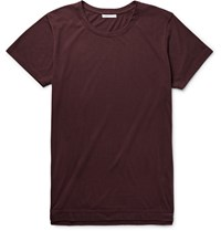 John Elliott Mercer Slim Fit Supima Cotton And Micro Modal Blend Jersey T Shirt Burgundy