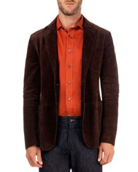 Berluti Suede Two Button Jacket Chocolate Caffe