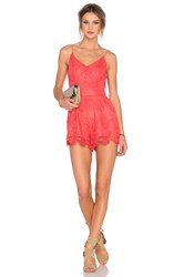 Lovers Friends Songbird Romper Coral