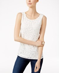 Charter Club Sleeveless Lace Top Only At Macy's Cloud