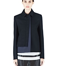 Paco Rabanne Short Wool Jacket Black