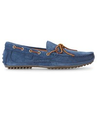 Polo Ralph Lauren Navy Wyndings Driver Suede Loafers Blue