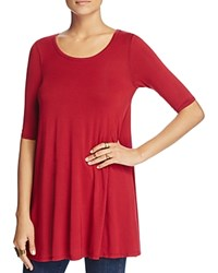 Free People Jacqueline Scoop Neck Tunic Top Red