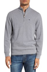 Vineyard Vines Men's 'Wind' Quarter Zip Wool And Cotton Sweater Grey Heather