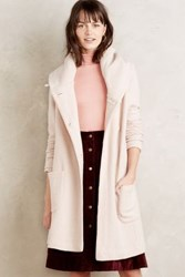 Anthropologie Boiled Wool Sweater Coat Neutral