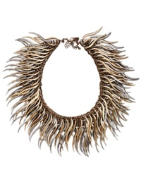 Bar Iii Antique Silver Tone And Gold Tone Caterpillar Statement Necklace