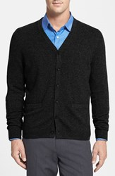 Men's Big And Tall Nordstrom Cashmere Cardigan Black
