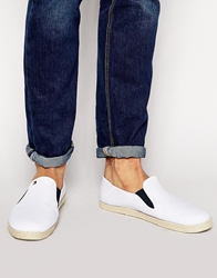 Tommy Hilfiger Harry Slip On Plimsolls White