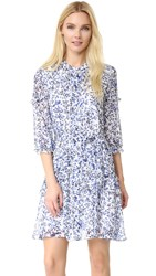 Saloni Tilly Ruffle Dress Porcelain