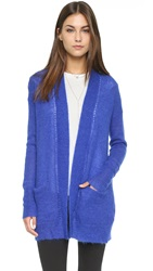 Rebecca Taylor Brushed Pointelle Cardi Electric Blue