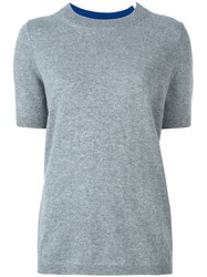 Twin Set Knitted T Shirt Grey