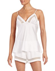 Kate Spade Silky Cami And Shorts Pajama Set Ivory