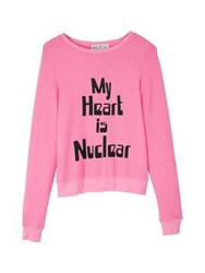 Wildfox Couture Wildfox My Heart Is Nuclear Baggy Beach Jumper Pink
