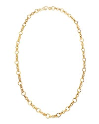 Coronation 24K Gold Plate Small Necklace 42'L Stephanie Kantis Black