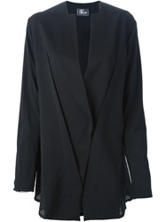 Lost And Found Paneled Loose Fit Blazer Black