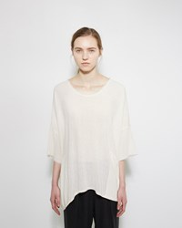 Raquel Allegra Raw Silk Boxy Tee Natural