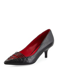 Charles Jourdan Dance Strappy Pointed Toe Pump Black