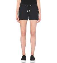 Zoe Karssen Tuxedo Stripe Jersey Shorts Pirate Black
