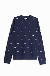 Kenzo Mini Eye Sweater Navy