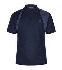 Alexander Mcqueen Satin Harness Polo Shirt Male Navy