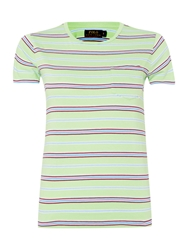 Polo Ralph Lauren Short Sleeved Striped T Shirt Light Green