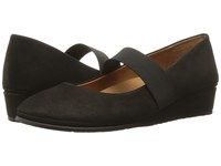 Gentle Souls Aria Black Nubuck Women's Flat Shoes