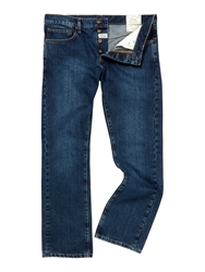 Linea Max Washed Blue Straight Fit Denim