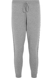 Chinti And Parker Merino Wool Track Pants Gray