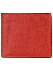Valextra Billfold Wallet Red