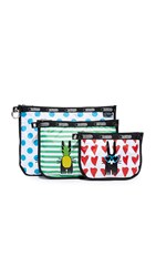 Le Sport Sac Lesportsac Designed By Peter Jensen 3 Binded Pouch Set Christopher