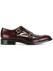 Paul Smith Classic Monk Shoes Red