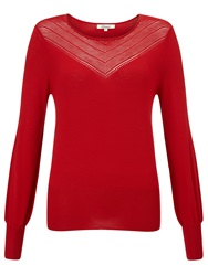 Alice By Temperley Somerset By Alice Temperley Pointelle Knit Jumper Red