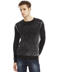 Kenneth Cole New York Acid Wash Crew Neck Sweater Black