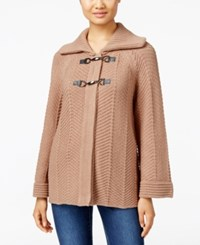 Jm Collection Petites Petite Toggle Front Cardigan Only At Macy's Acorn Heather