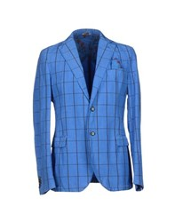 Manuel Ritz Suits And Jackets Blazers Men Blue